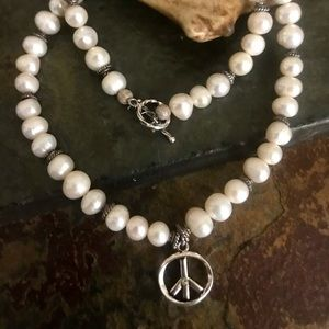 Jewelry - Genuine Baroque Pearl Sterling Silver Necklace